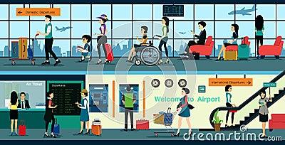 Airport Vector Illustration
