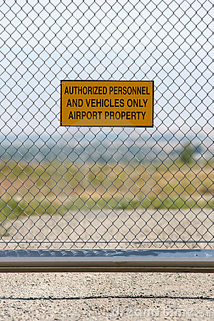 Airport - authorized personnel only