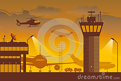 Airport Vector Illustration
