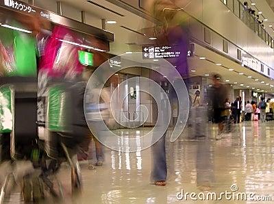 Airport blur