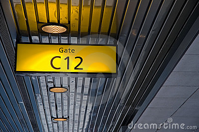 Airport Boarding Gate Sign