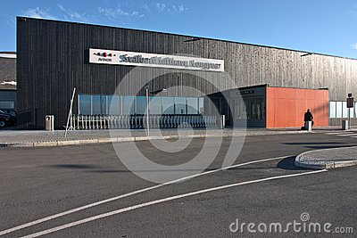 Airport building at Longyearbyen (Svalbard) Editorial Stock Photo