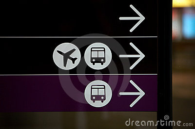 Airport and bus, Travel and Plane sign