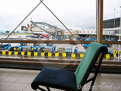 Airport chair Editorial Stock Image