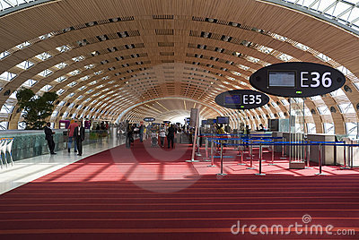Airport Charles de Gaulle. Editorial Photo