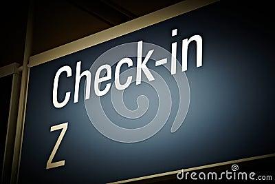 Airport check-in board