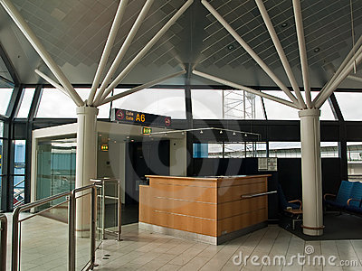Airport Check-in counter gate