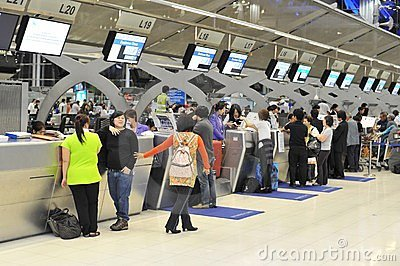 Airport Check-In Counters Editorial Image