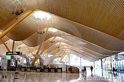 Airport check-in hall
