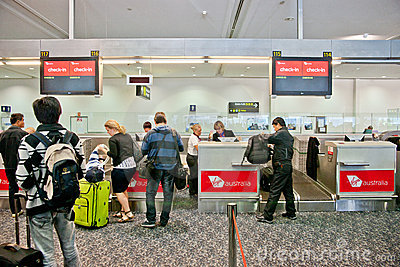 Airport check-in process Editorial Image