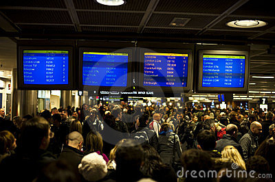 Airport closed, flights cancelled Editorial Stock Image