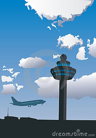 Free Airport Control Tower Stock Image - 10319561