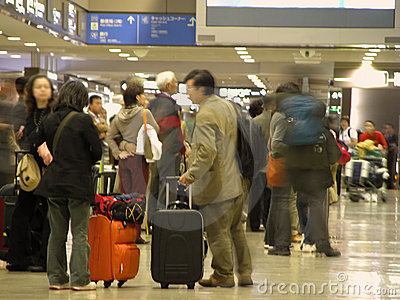 Airport Crowd - Blured Royalty Free Stock Photos