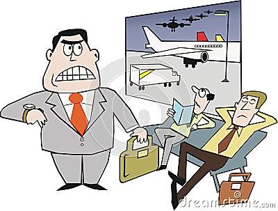 Airport delay cartoon