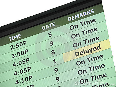 Airport Delay Sign