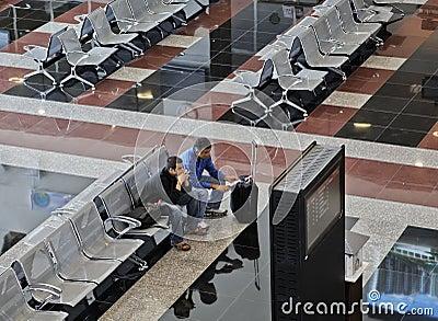 Airport departure lounge Ankara Esenboga Turkey