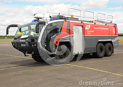 Airport Fire Tender Editorial Photography
