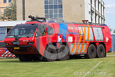 Airport firetruck Editorial Stock Photo