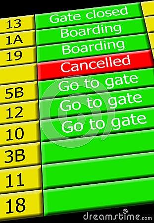Airport flight info display