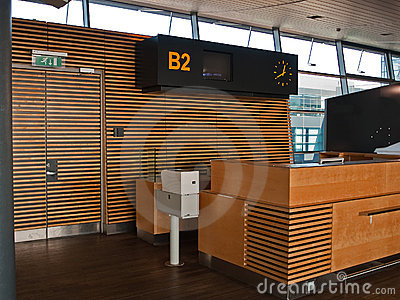 Airport flights Check-in counter gate