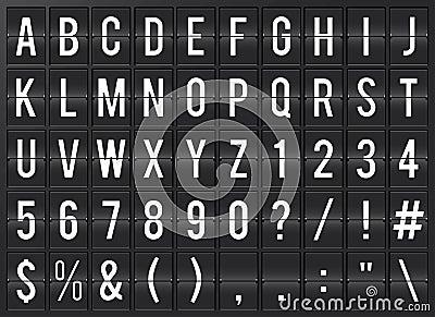 Airport Flipboard Alphabet
