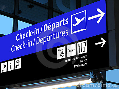 Airport gate sign, flight schedule, airline