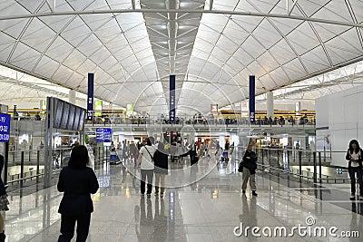 The airport at hongkong Editorial Photo