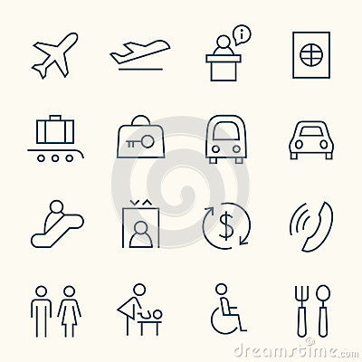 Free Airport Icon Set Royalty Free Stock Images - 66766379