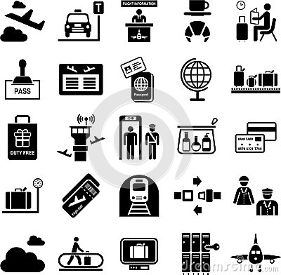 Free Airport Icons Stock Images - 28568354