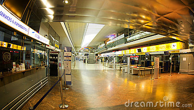 Airport in Innsbruck - Check in Editorial Photography