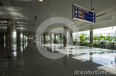 The airport of Izmir, the arrival hall.