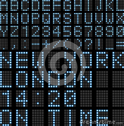 Free Airport Led Display Board Stock Image - 31706021