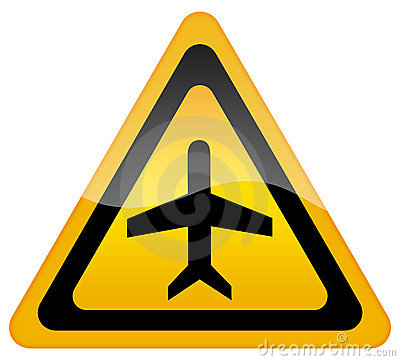 Airport plane sign