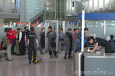 Airport security Editorial Photography