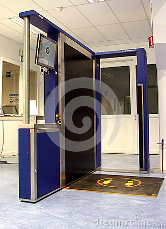 Airport security body scanner Editorial Photo