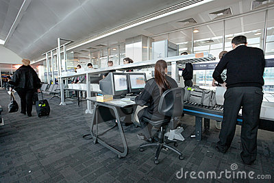 Airport security check at gate Editorial Photography