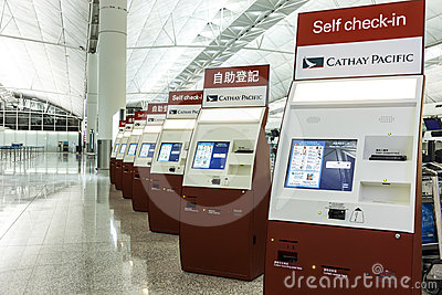 Airport self check-in system Editorial Image