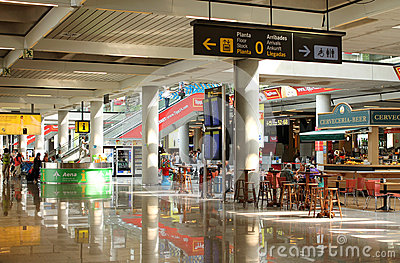 Airport shops Editorial Stock Photo