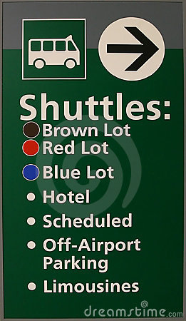 Free Airport Shuttle Sign Stock Photo - 3983230