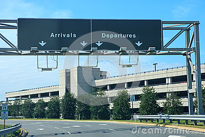Airport Signs Dulles International Virginia