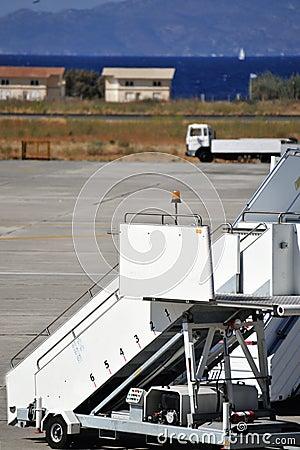 Airport stairway