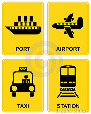 Airport, station, taxi, port