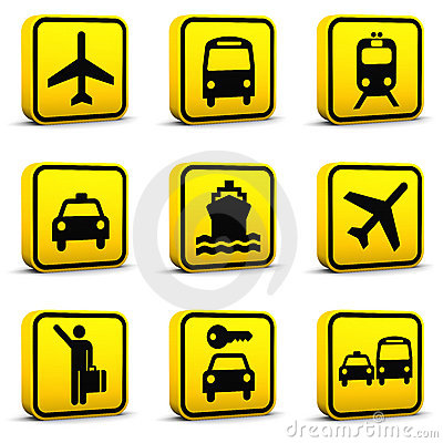 Free Airport Style Icons Set 01 Royalty Free Stock Image - 12153116