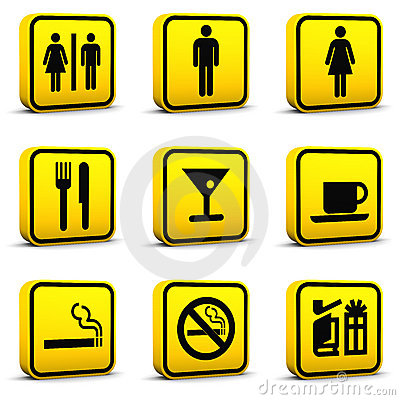 Free Airport Style Icons Set 03 Royalty Free Stock Image - 12153466