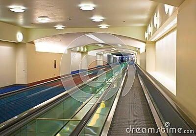Airport terminal hall