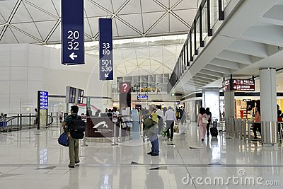 The airport terminal at hongkong Editorial Stock Photo