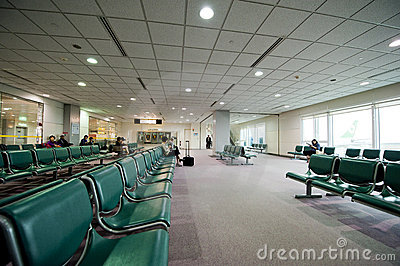 Airport Terminal Seating Editorial Stock Photo