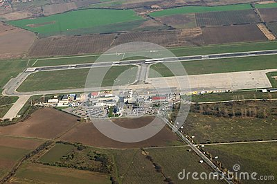 Airport Timisuara - Romania Editorial Photo