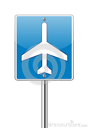 Airport traffic label glossy sign
