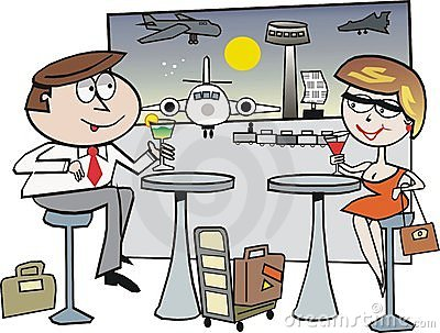 Airport travel cartoon